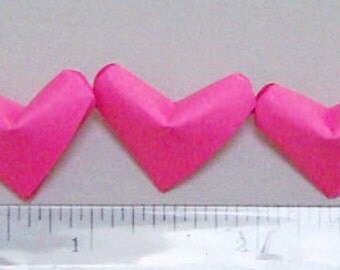 Small Origami Hearts (100) Hot Pink Paper Hearts