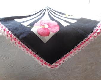 Turkish Crochet Bead Oya Lace Scarf