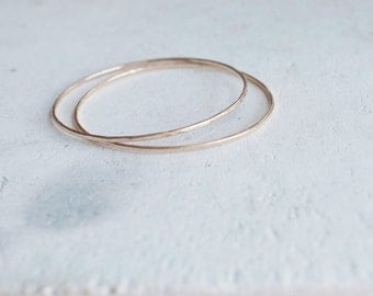 14k Gold Fill Faceted Bangle