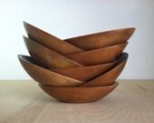 Wood Bowl Set of 8