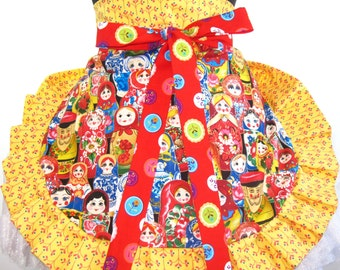 Oriental Doll Apron Asian themed apron