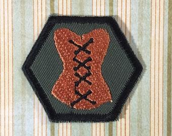 STEAMPUNK Merit Badge - Corset, Corsetry Steampunk Scouts