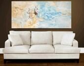 "Wall Art Painting abstract art Canvas Art Acrylic painting 54"" Abstract  Painting  from   jolina anthony"