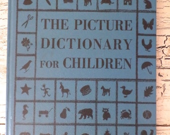 Vintage Children's Picture Dictionary - 1958