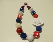 Red, White, and Blue Bubblegum Necklace