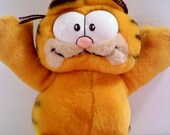 Vintage Garfield Plush with Rotating Head