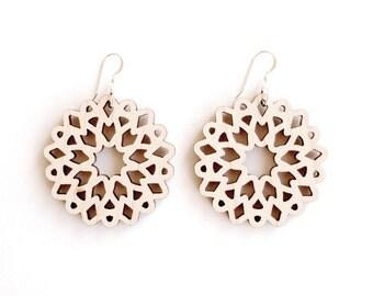 peony flower earrings