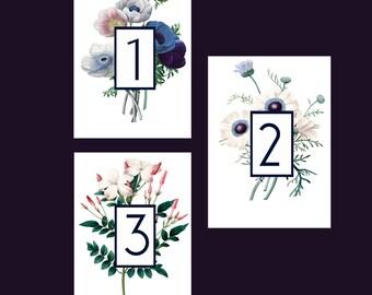 Floral Table Numbers | Digital