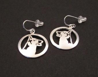 German Shepherd Medallion Earrings