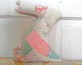 Vintage Quilt Stuffed Bunny