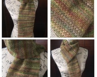 Knit Scarf,  Winter Scarf, Wool Scarf,  Merino Wool, Hand Knit Scarf