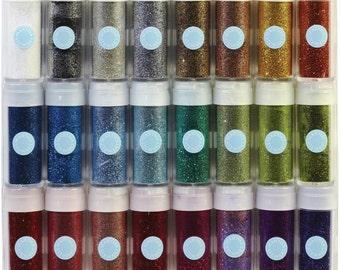 Martha Stewart Glitter - Vivid Tinsel - Twenty Four .37 Ounce Bottles (208338)