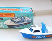 Matchbox 1976 Lesney Superfast Police Launch Boat No. 52