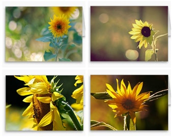 Beautiful Floral Photography Note Cards,Photo Stationery,sunflowers,flowers,yellow,maize,floral notecard set,nature photography,gift idea