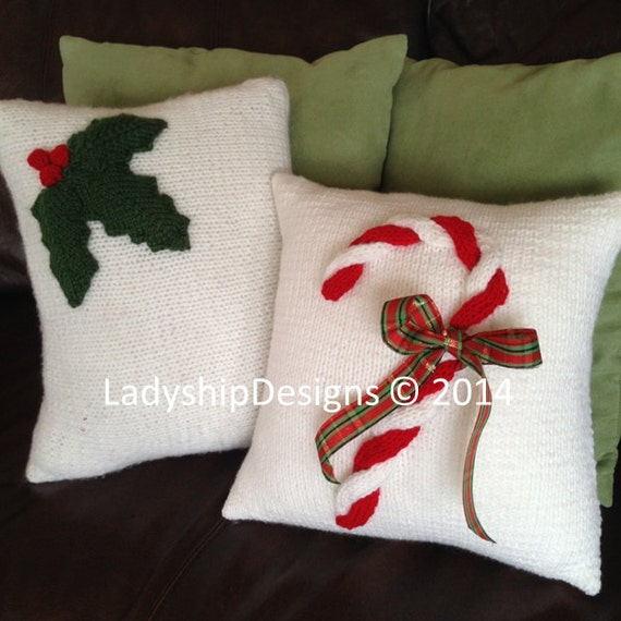 Knitting Pattern Christmas Cushion : PDF KNITTING PATTERN, Christmas knitting pattern, Christmas pillow cover knit...