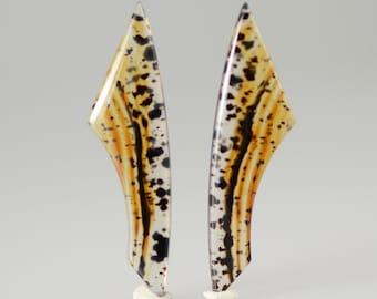 Stunning Montana Moss Agate Freeform Pair