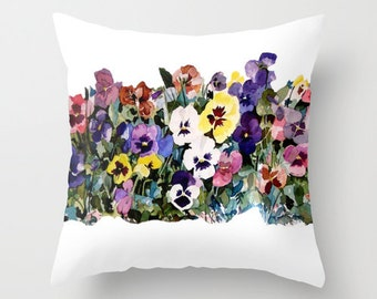 Indoor Pillow, I Love Pansies