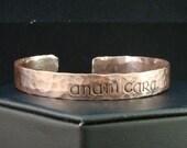 Hand Forged Anam Cara Cuff for Men and Women - Irish Copper Cuff