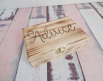 Advice Box Rustic Wood Advice Box Advice For The Couple #DownInTheBoondocks