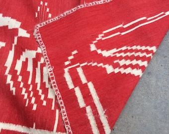 Vintage Wool Rug or blanket