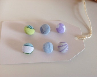 Mixed vintage fabric covered button pack