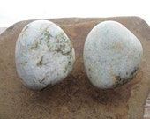 NATURAL Beach Stone Cabinet Knobs WHITE SPRING Beach Stone Cabinet Knobs