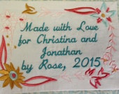 Quilt Label Meadow Flowers Design Made to Order