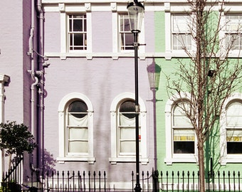 London house photography, London art print in pastel,  - Pistachio Mint
