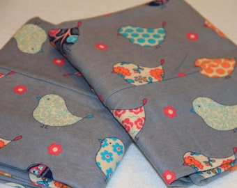 Retro Bird Pillowcases