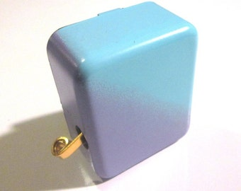 Hand-Held Music Box with On/Off Switch - Lilac and Turquoise  - Lots of New Songs, Palm Size