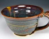 Brown mug, chowder mug, latte cup