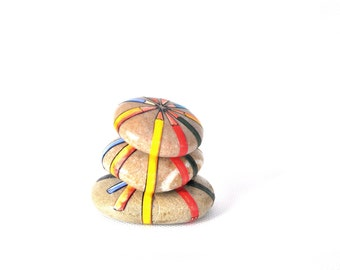 Balancing Pebbles with Pencils Paperweight