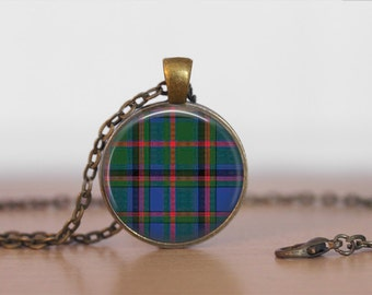 COOPER TARTAN Pendant Necklace / Scottish Tartan Jewelry / Ancestral Jewellery / COOPER Clan /  Family Jewelry / Personalized Gift / boxed