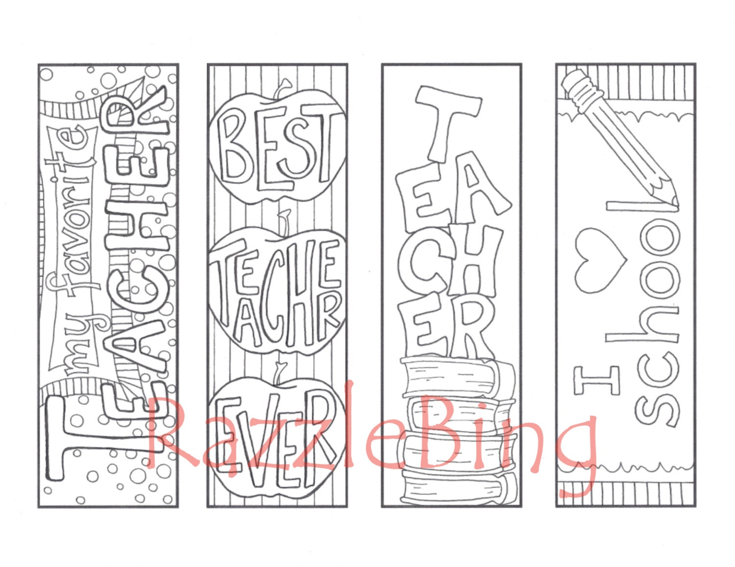 diy bookmark printable coloring page zentangle inspired