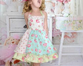 Cottage Garden shabby chic girls dress Easter flower girl