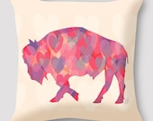 Hearts Pillow by Alison Kurek Valentines Day Love Buffalo hand sewn pillow invisible zipper