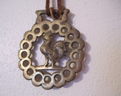 Brass Rooster Bridle Equestrian Ornament