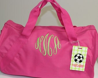 Monogrammed Overnight Bag - Pink Duffle Bag - Personalized Bag - Duffel Bag - Monogrammed Duffle Bag for Kids