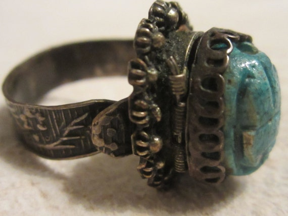 Antique Poison Silver Ring