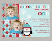 Winter Onederland Invitation, Winter Onederland, Winter Wonderland, Twins