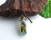 FAIRY STONE Necklace,  Multi Colored Fairy Stones, Gift for Her, Birthday Present