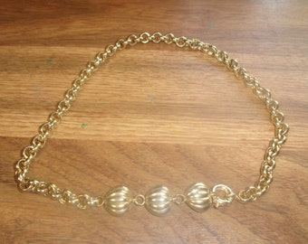 vintage necklace heavy goldtone chain