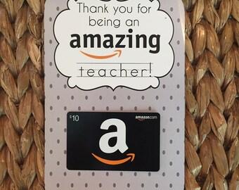 Thanks for being an Amazing teacher  - Printable {Teacher  Appreciation Gift} Gift card holder