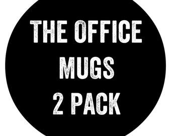 The Office TV Show Coffee Cups 2 Pack, Ready to Ship