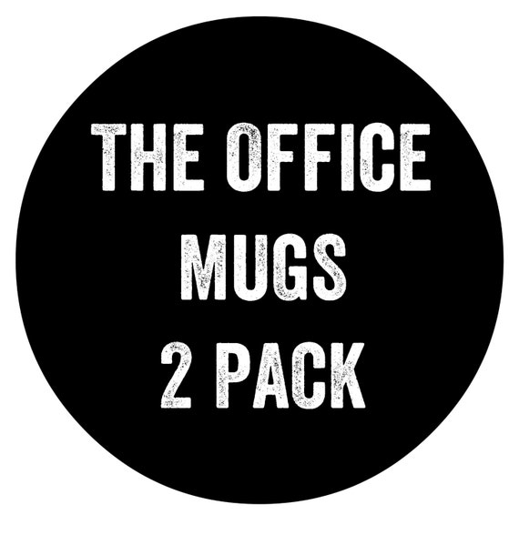 The Office TV Show Coffee Cups 2 Pack Ready To Ship