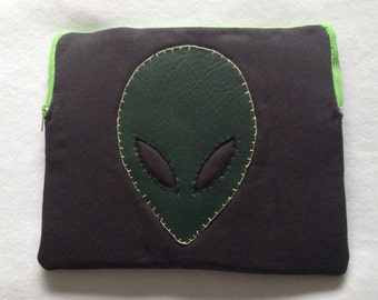 "Alien e-Reader Case, 8.5"", Kindle, Book case, Accessories pouch, Green, Black"