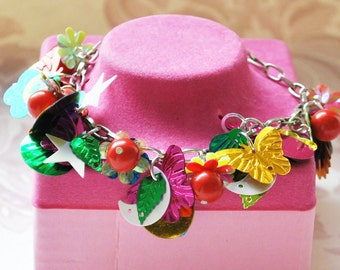 Statement Bracelet Assemblage Charms