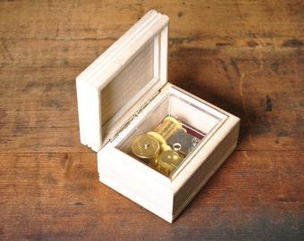 Vintage Music Box Wood with Praying Angel