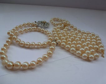 Jewelry Supply Vintage Glass Beads Vintage Pearl Glass Beads Vintage Supplies Jewelry Making