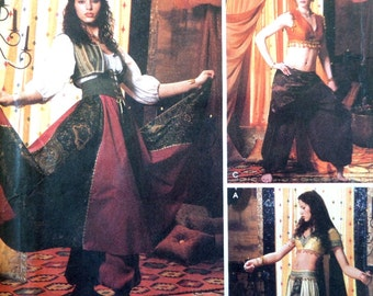 BELLY DANCER Pattern • Simplicity 5359 •  Miss 6-12 • Harem Girl Outfit • Exotic Dancer • Sewing Patterns • Adult Costumes • WhiletheCatNaps